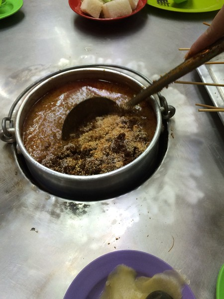 Preparing the Satay Sauce Capitol Satay Malacca