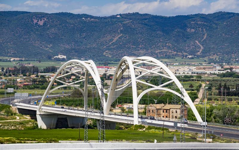 Elegant Modern Road Bridge on the Outskirts of Cordoba (©simon@myeclecticimages.com)
