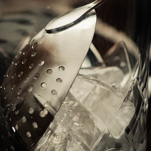 Julep strainer (detail), photo © 2013 Douglas M. Ford. All rights reserved.