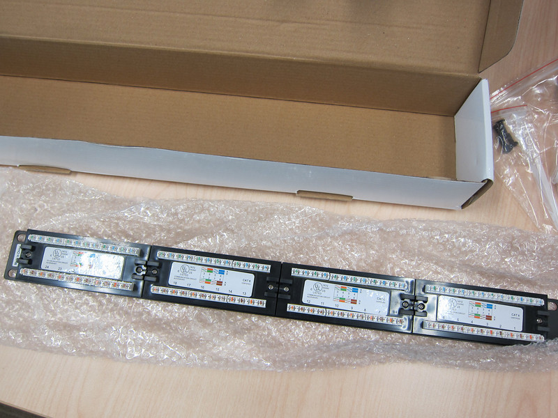Monoprice Cat6 Patch Panel 110 Type 24 Ports