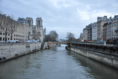 The Seine with Notre Dame in the background.