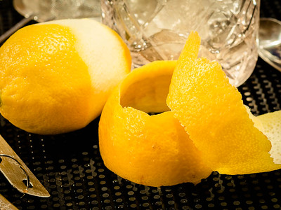 The Brandy Crusta - lemon peel garnish, photo © 2015 Douglas M. Ford. All rights reserved.