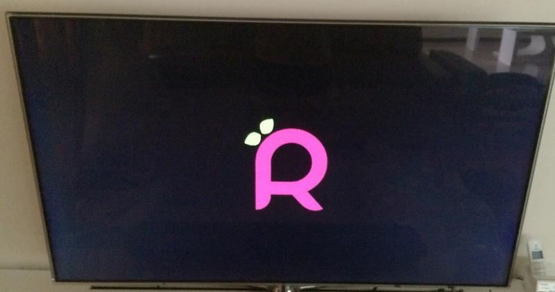 Raspbmc Logo on TV