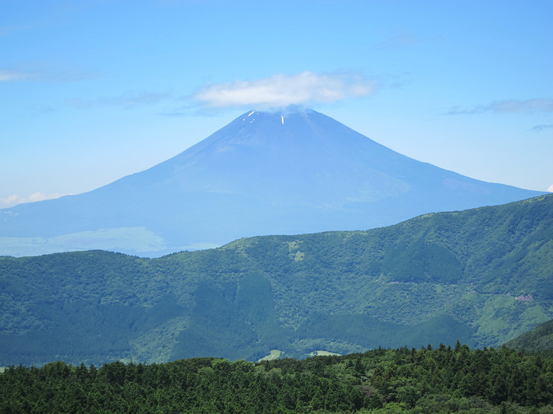 Photo of Mount Fuji at Owakudani Hakone Japan