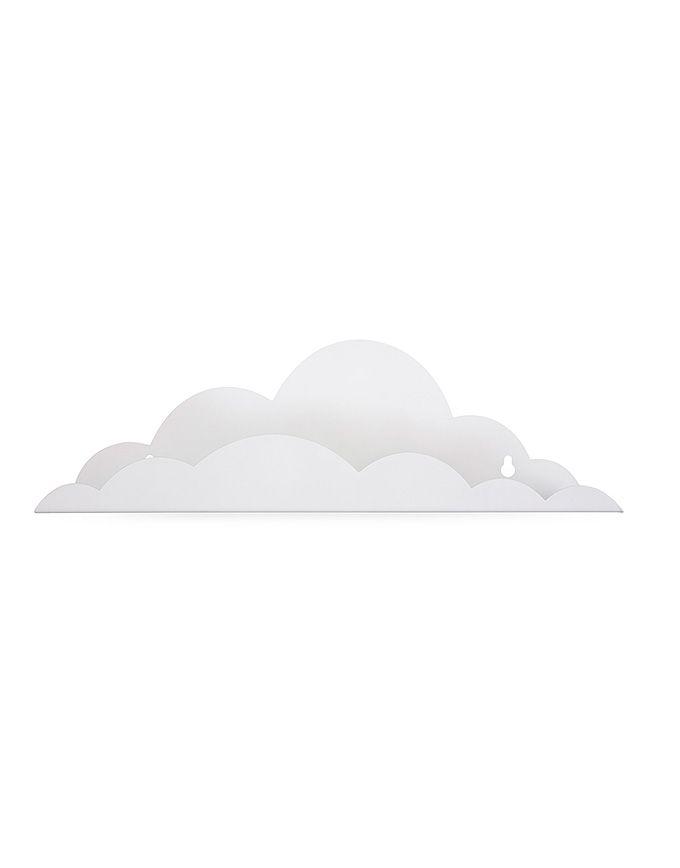Wandrek wolk in metaal - Wit