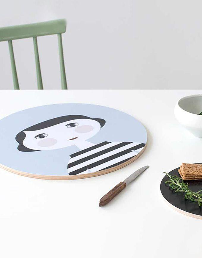 Decoratief wandpaneel snijplank – Mia