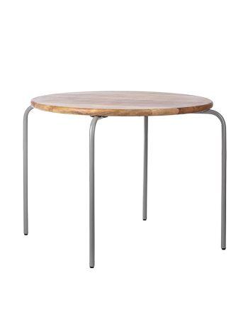 Kidsdepot - Ronde tafel original - hout metaal grijs