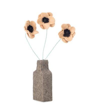 Kidsdepot - Vilten bloemenvaasje met anemonen