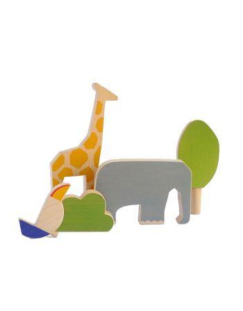 Speelset – wooden animals africa