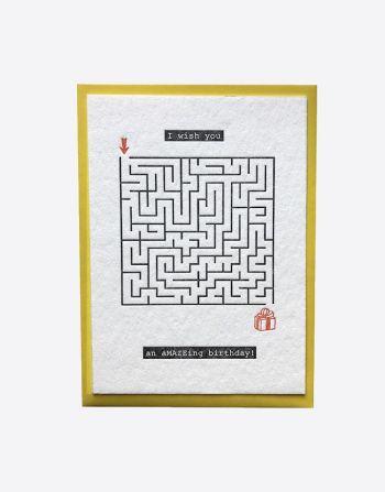 "Letterpress wenskaart ""Amazing birthday"""