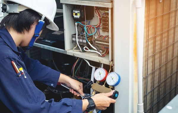 Contractor Performing Service and Repair