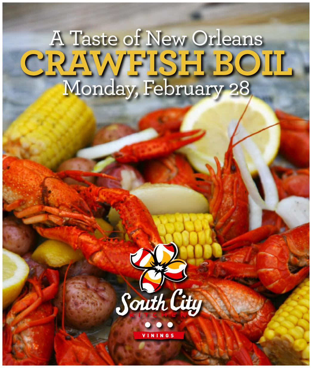 South City Kitchen Menu: South City Kitchen Crawfish Boil