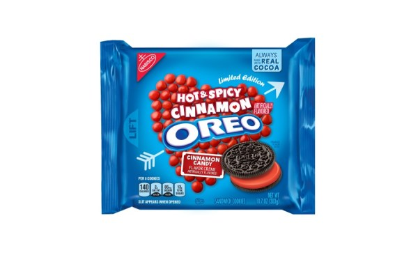 OREO Chocolate Hazelnut and Spicy Hot Cinnamon flavors ...