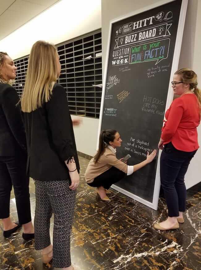 The Buzz Board Office Bulletin Board Idea