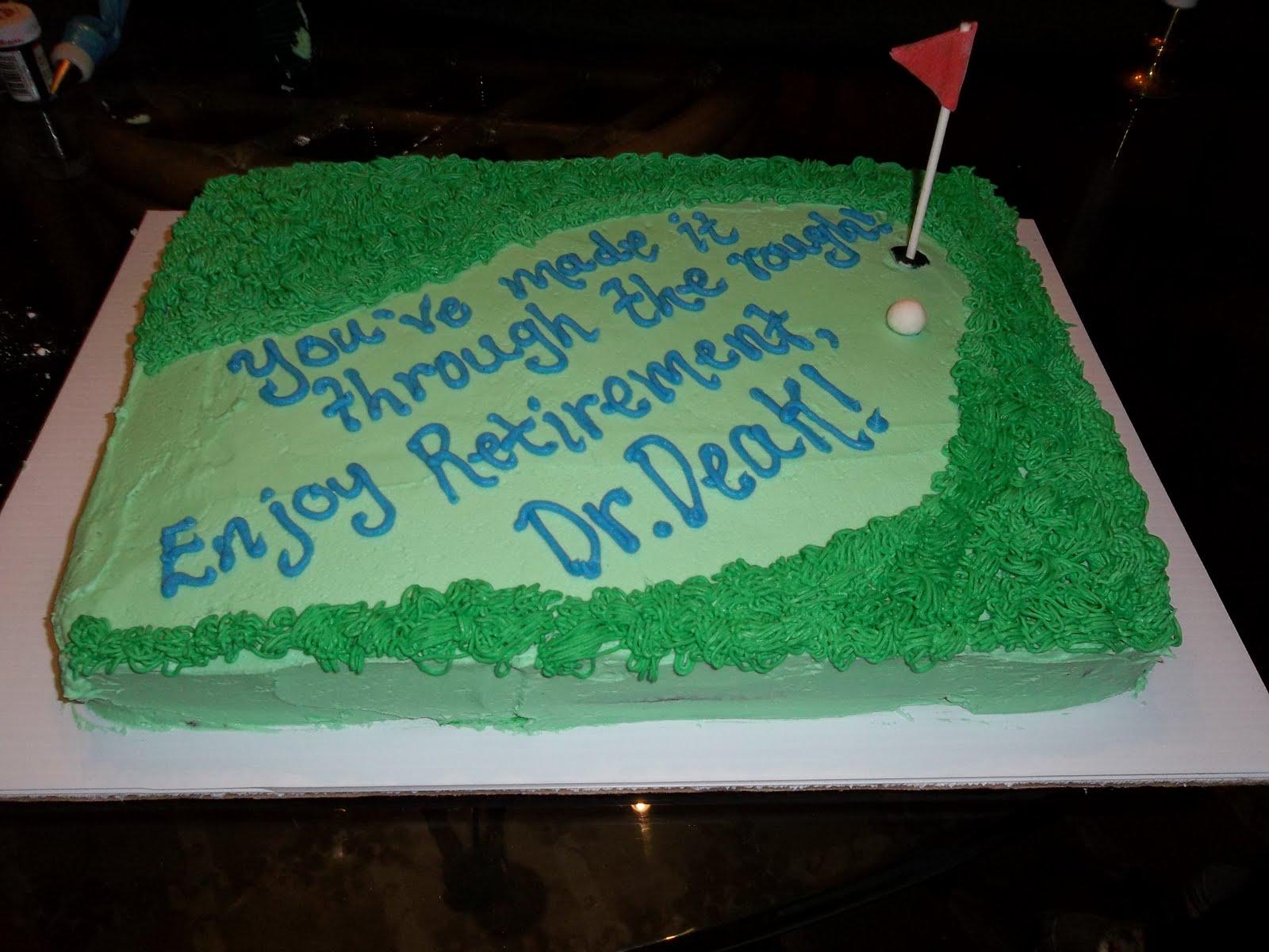 Golf Birthday Cake Decorating Ideas