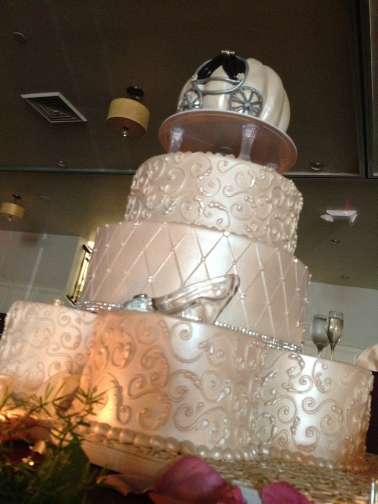 10 A Cinderella Wedding Theme By Cakes With Wilton Photo   Fairy     Cinderella Theme Wedding Cake