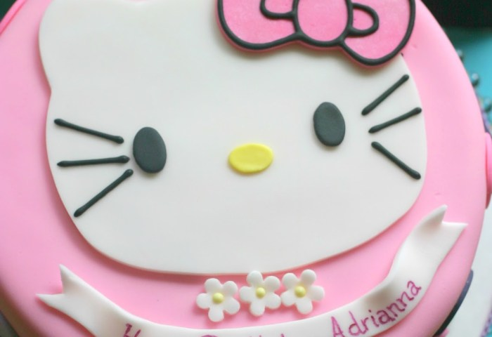 10 Hello Kitty Birthday Cakes For Girls 12th Photo Small Hello