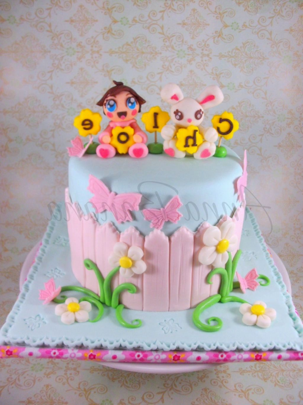 Surprising Little Girl 2Nd Birthday Cake For Baby Girl The Cake Boutique Funny Birthday Cards Online Overcheapnameinfo