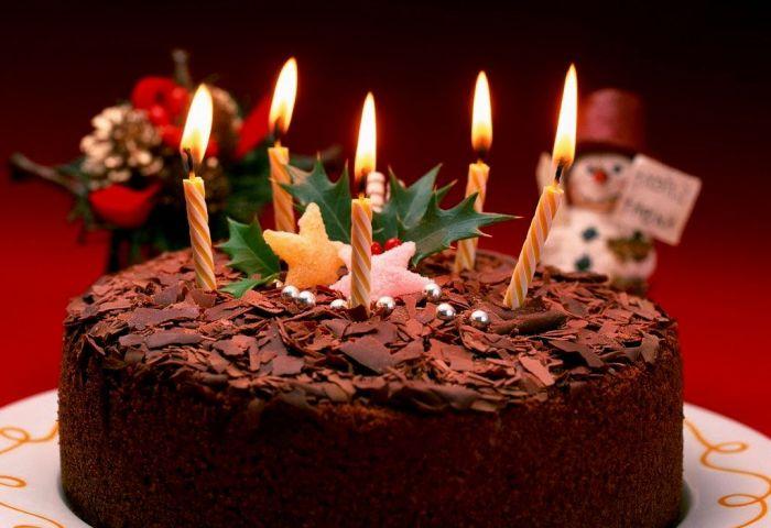 8 Beautiful Elegant Birthday Cakes With Candles Photo Happy