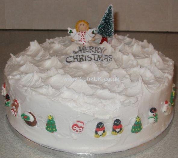 Christmas Cake Icing Ideas
