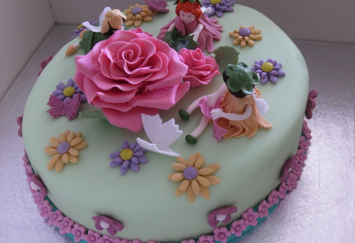 Birthday Cake And Flowers Hd Images