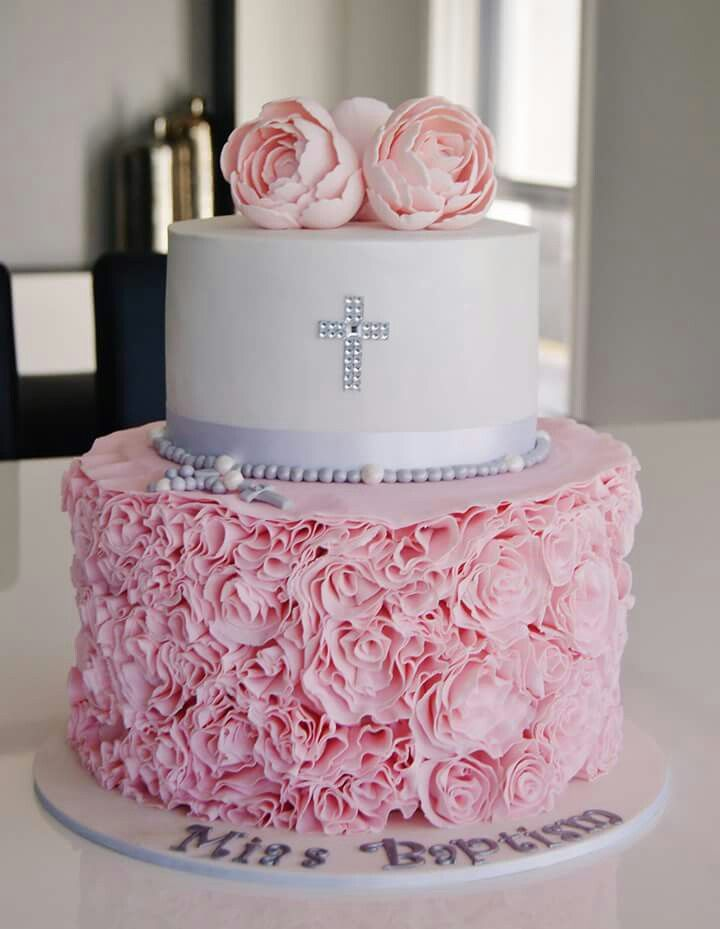 10 Baptism Cakes For Girls Ideas Photo Girl Baptism Cake