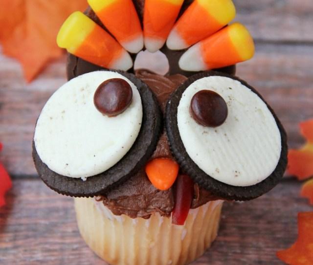 Kids Thanksgiving Turkey Cupcakes