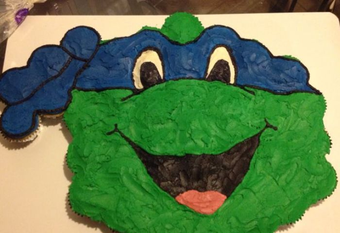 11 Ninja Turtle Birthday Cake Cupcakes Photo Ninja Turtle Cupcake