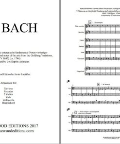 Bach canon 1087 score sheet music