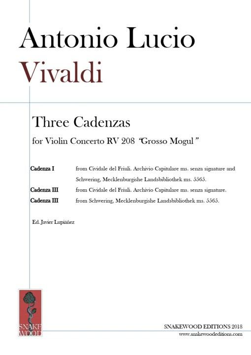"""Vivaldi – 3 Cadenzas for Concerto RV 208 """"Grosso Mogul"""""""