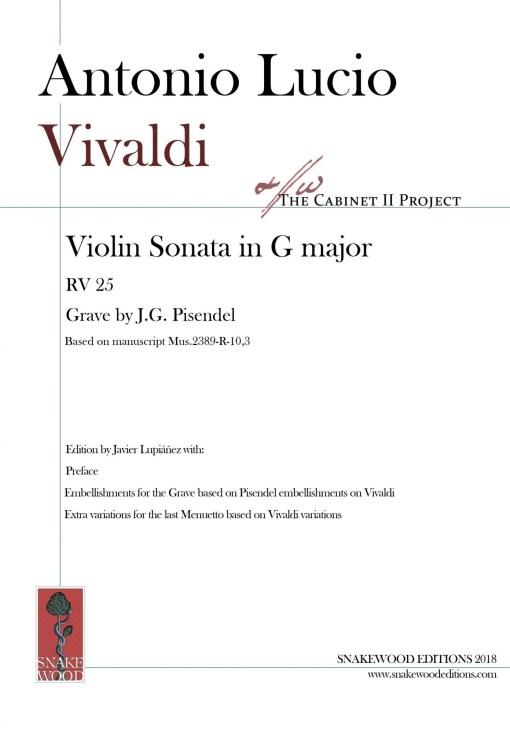 """Vivaldi – Sonata in G major """"per Pisendel"""" RV 25"""