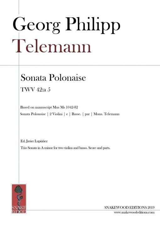 Telemann – Trio Sonata Polonaise TWV 42:a 5 – Score and Parts