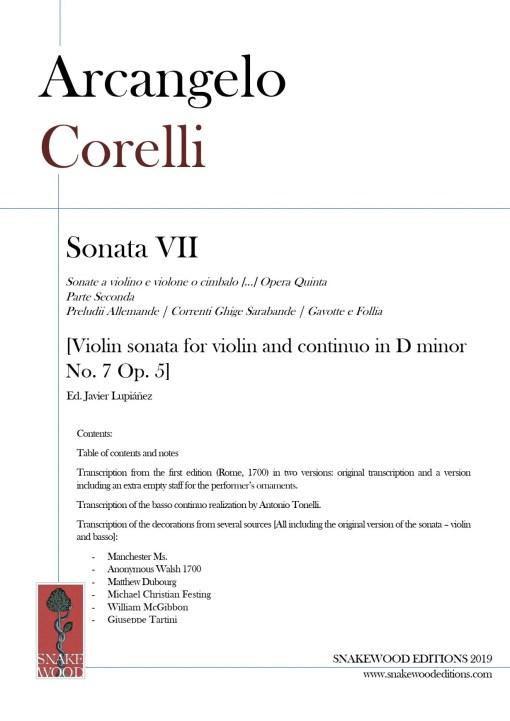 Corelli sonata 7 score