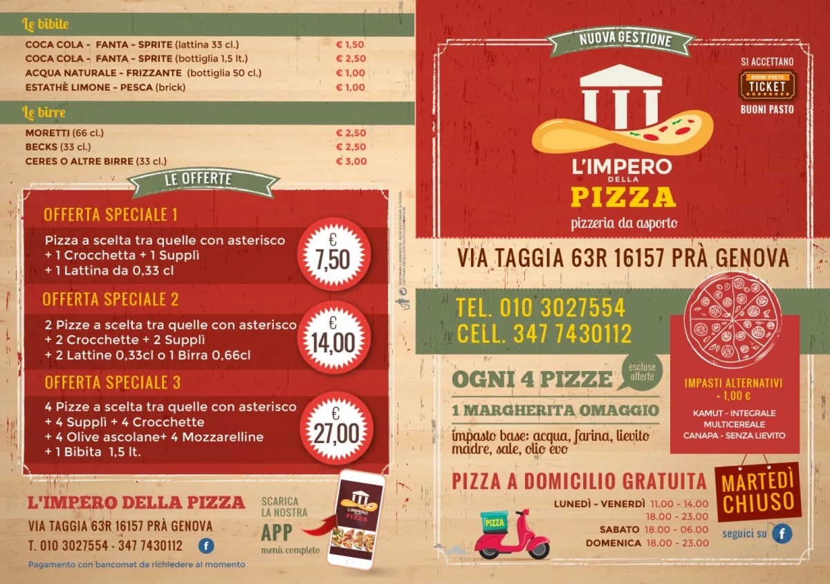 pizza a domicilio pegli