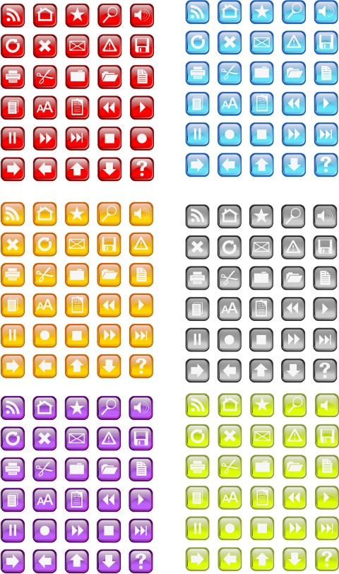 30 Free Vidro Icon Png and Vector pack in six colors