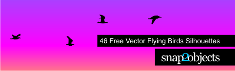 Vector Flying Birds Sillhouettes