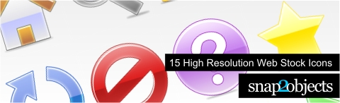 High Resolution Web Stock Icons