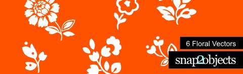 header floral vectors