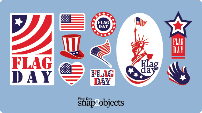 Angry Birds Playing Card Deck And Vector Characters: Flag Day Vector Stickers And Icons
