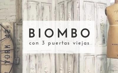BIOMBO CON PUERTAS DE MADERA