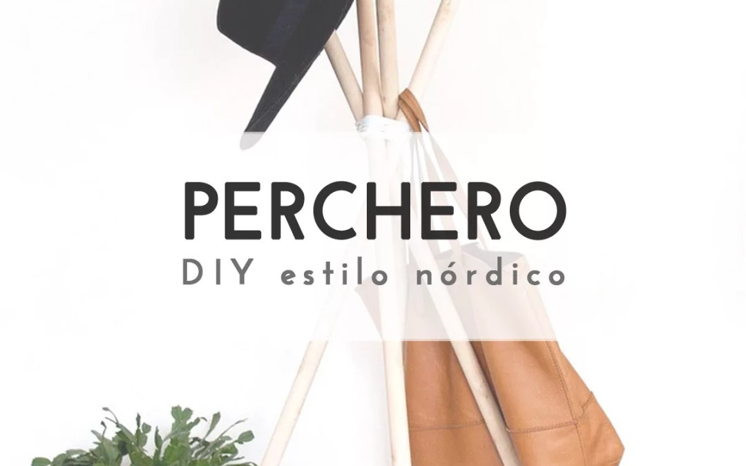 PERCHERO DE PIE DIY