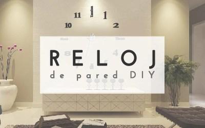 RELOJ DE PARED DIY