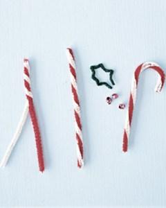 Bastoncillos navideños DIY con limpiapipas