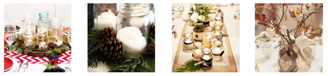 decorar en navidad con tarros