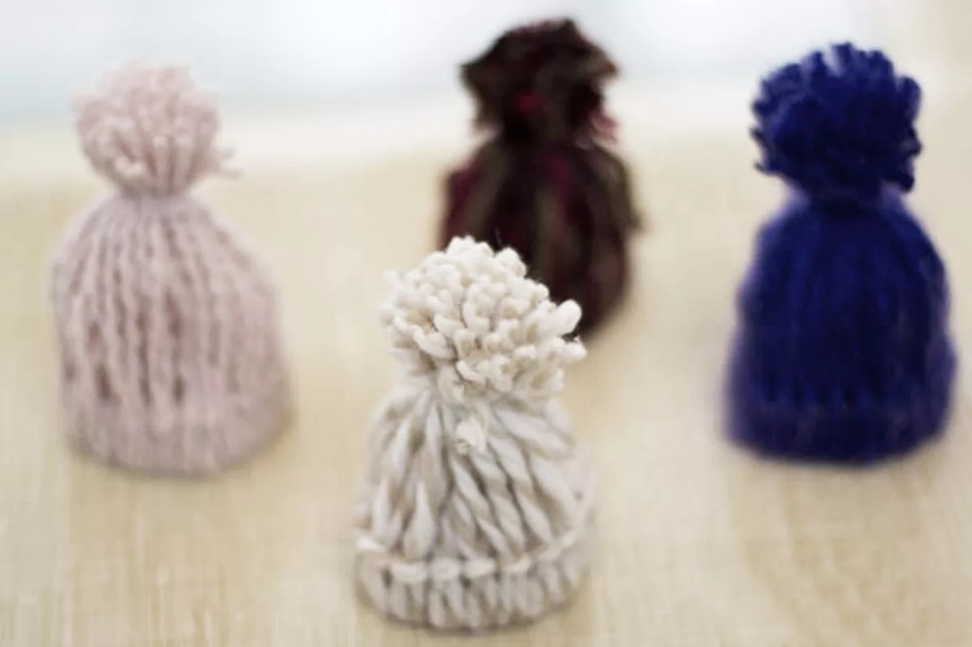 Gorritos de lana DIY decorativos