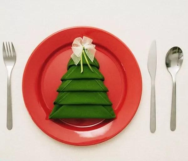 diy servilleta forma de árbol