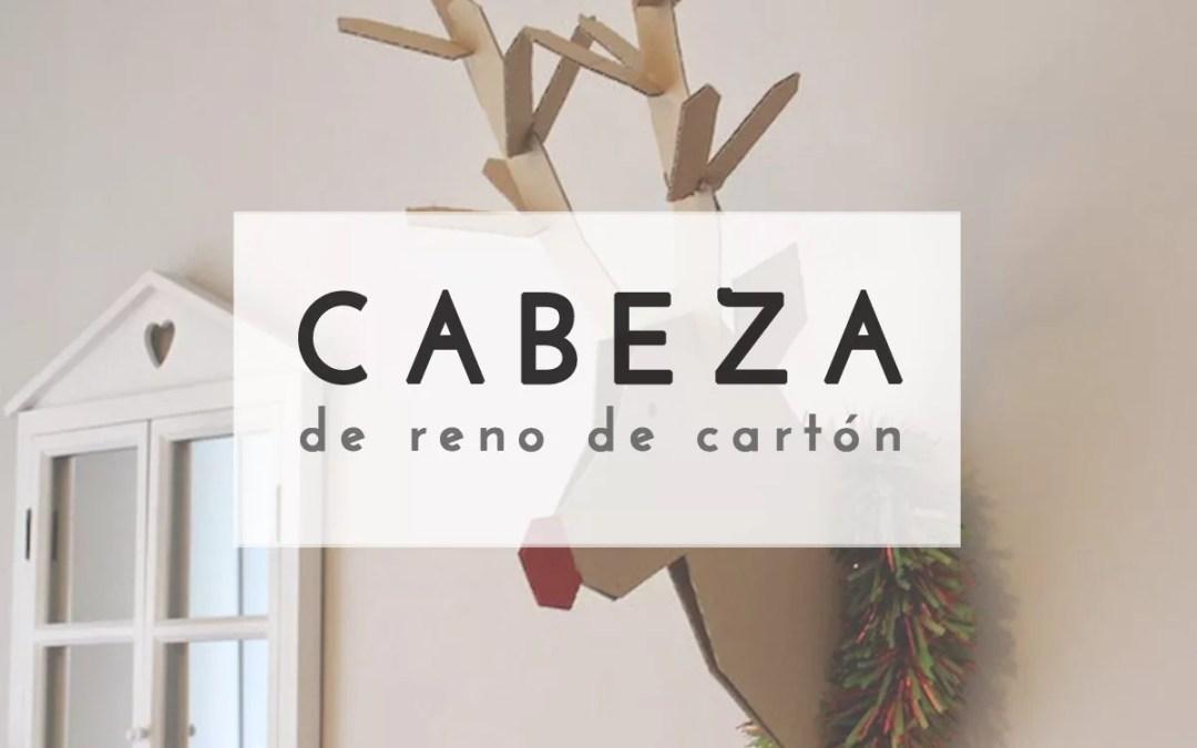 CABEZA DE RENO CON CARTÓN
