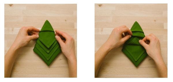 DIY servilleta en forma de árbol