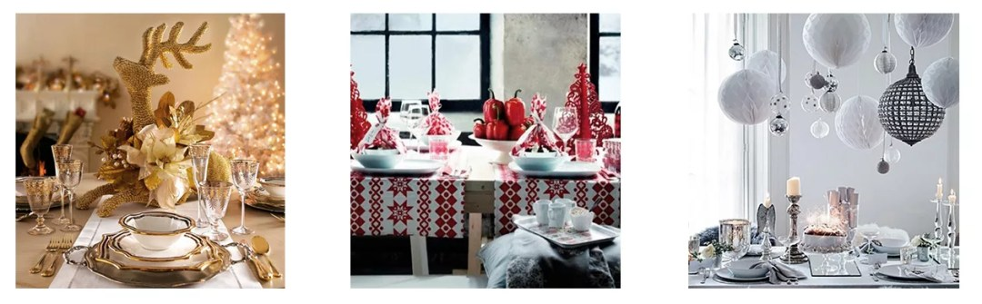 3 colores para las mesas de navidad