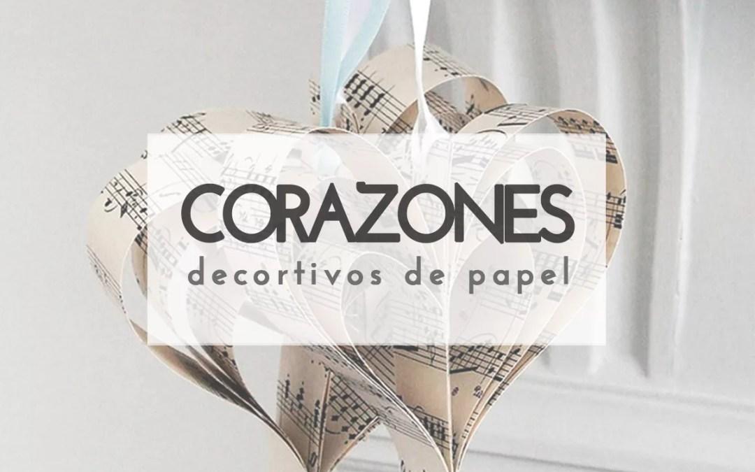 CORAZONES NAVIDEÑOS DE PAPEL